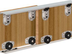 Раздвижные двери с нижним несущим механизмом