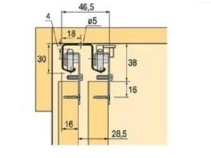 Подвесные двери СТ147,148